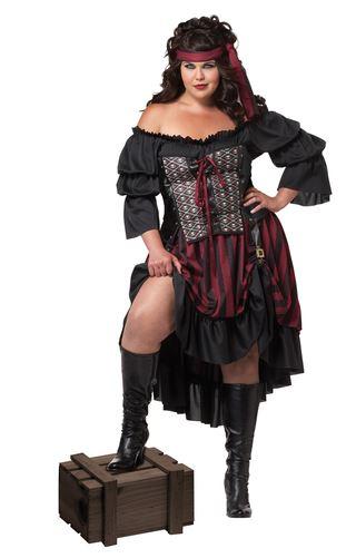 Disfraz pirata mujer talla grande