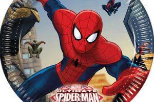 Set platos Spiderman