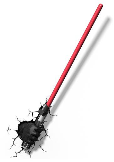 lampara decorativa 3D espada laser