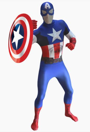 Disfraz Capitan America morphsuit