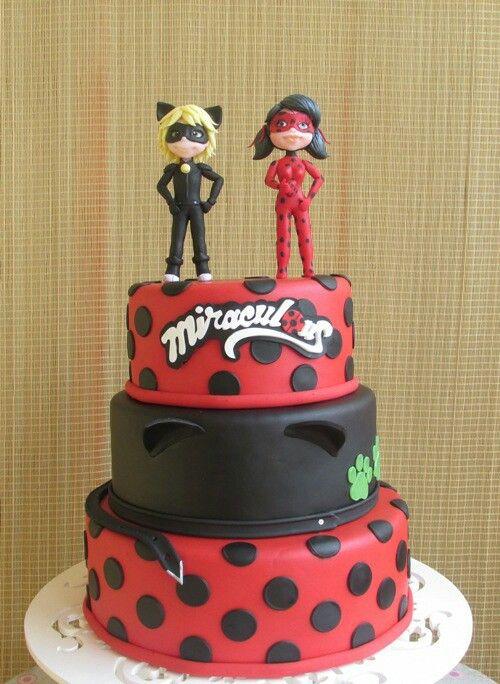 Cumpleaños Ladybug tarta