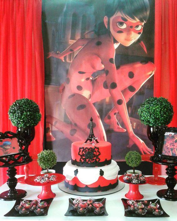 Fiesta de cumplea os de ladybug decoraci n de cumplea os - Adornos fiesta de cumpleanos ...