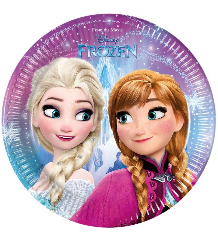 Platos Frozen cumpleaños