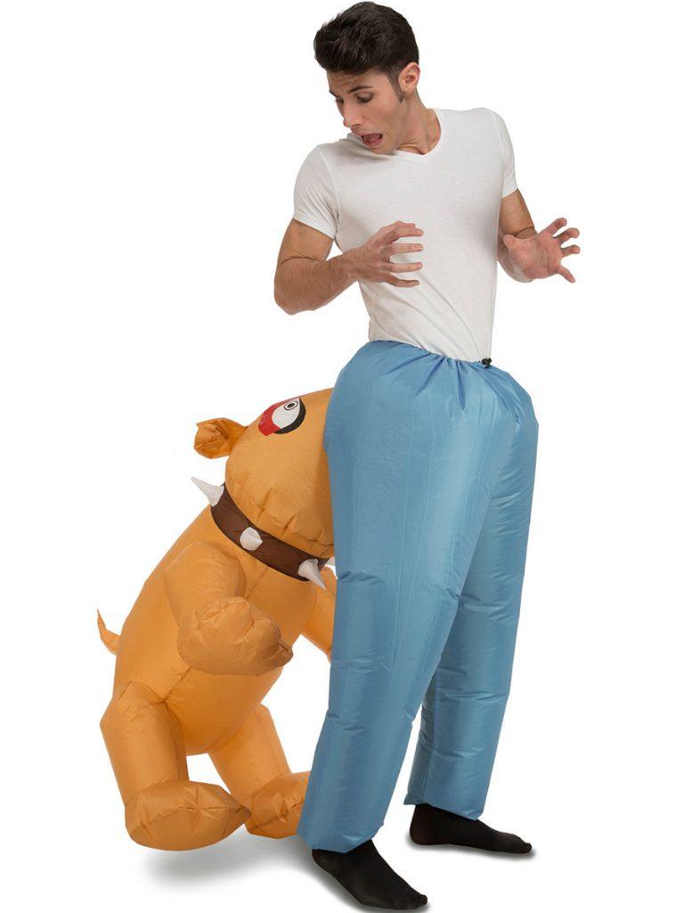 Disfraz hinchable perro mordedor