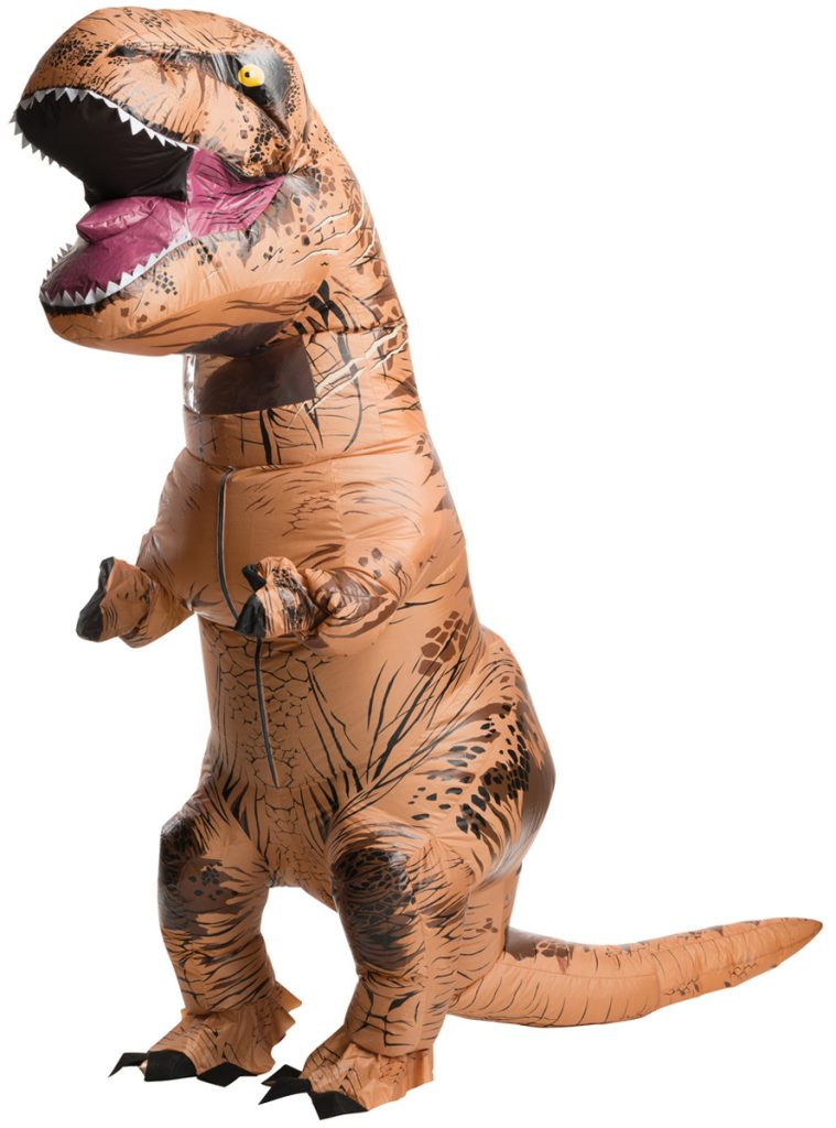 Disfraz de t-rex hinchable
