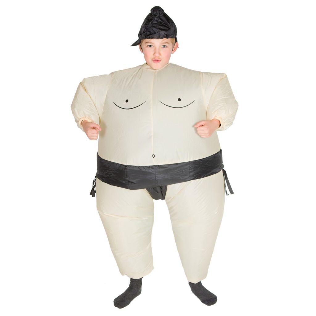 Disfraz hinchable de sumo para niño