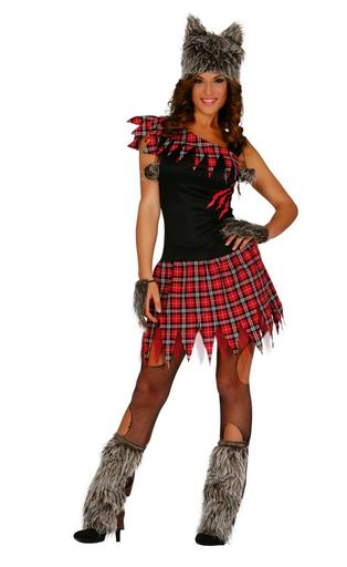 disfraz halloween chica lobo
