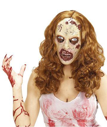 mascara halloween chica zombie
