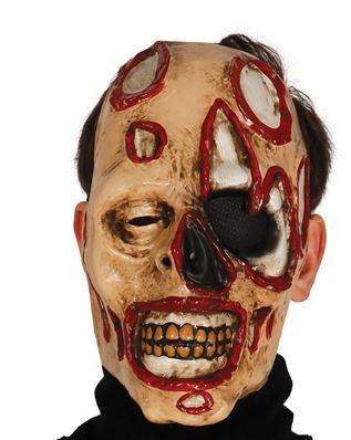 mascara halloween zombie desfigurado