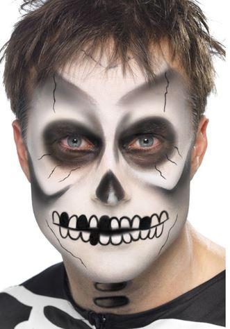set maquillaje esqueleto halloween
