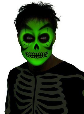 maquillaje halloween brillo oscuridad