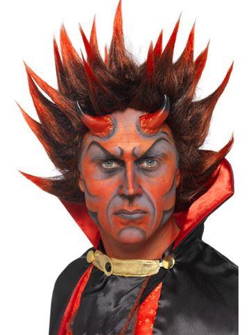 peluca halloween demonio punky