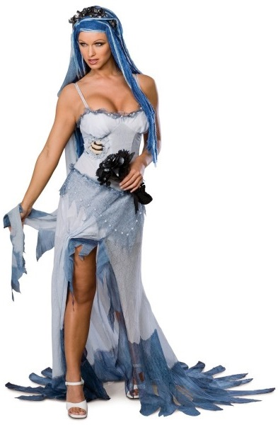 disfraz la novia cadáver. maquillaje, disfraz y accesorios.