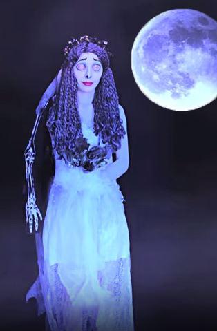 disfraz la novia cadaver