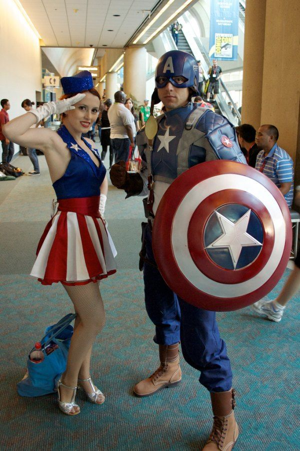 Como disfrazarse  disfraz y escudo Capitan America 3ec3423621a6