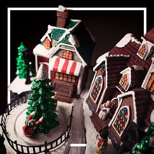 Villages de Noël miniatures