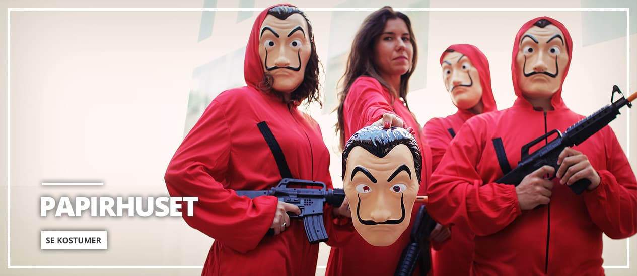 Papirhuset kostumer og Dali masker