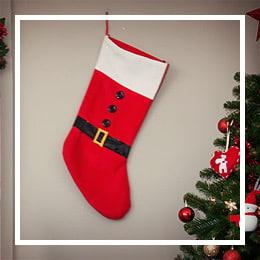Botas Navideñas y Sacos Papá Noel