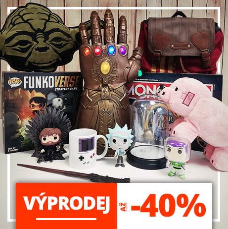 Výprodej geeky merchandise