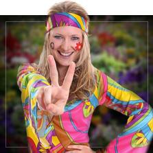 Kostýmy hippies a 60. léta