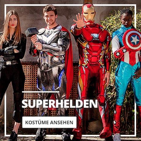 Superhelden Kostüme und Bösewicht Anzüge