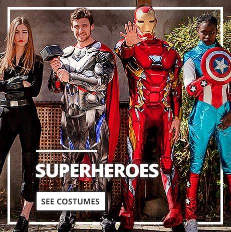 Superhero Costumes & Villain Fancy Dress