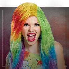 Multifarvede Parykker