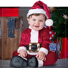 Weihnachtsmann Babykostüme