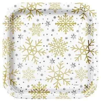 Silver & Gold Holiday Snowflakes