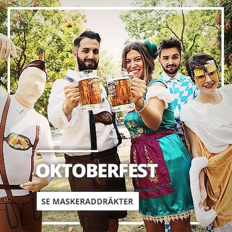 Oktoberfest: maskeraddräkter, accessoarer och komplement