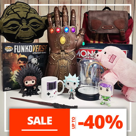 Geeky merchandise sale