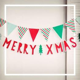Vánoce Prapory a girlandy