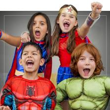 Kostýmy superhrdinů a padouchů