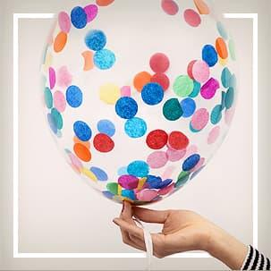 Palloncini con confetti