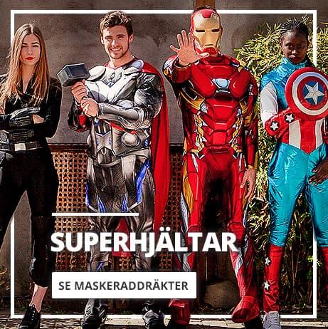Maskeraddräkter Superhjältar & Skurkar