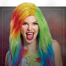 Multicolor Pruiken