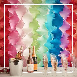 Crepe Paper Curtains