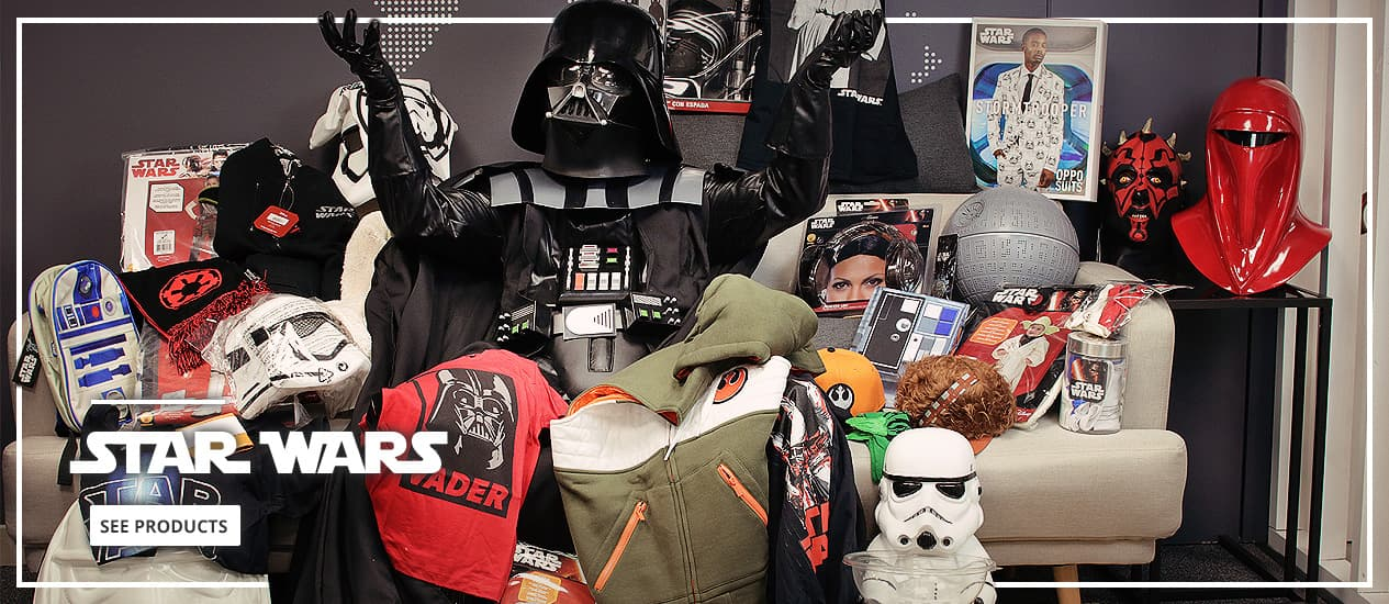 Star Wars: costumes, party decorations and merchandise
