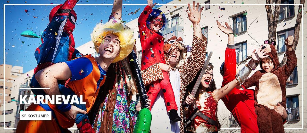 2021 Originale karneval kostumer til kvinder, mænd og børn