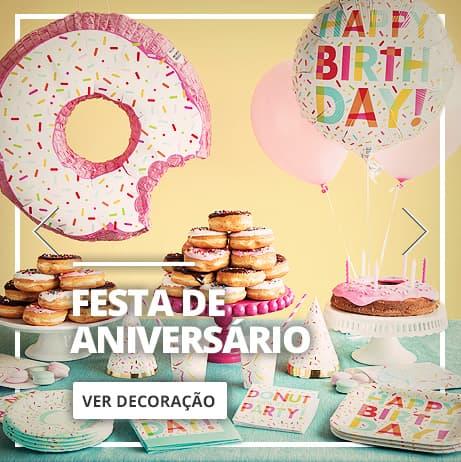 Decoração de festa de Aniversário: artigos e enfeites