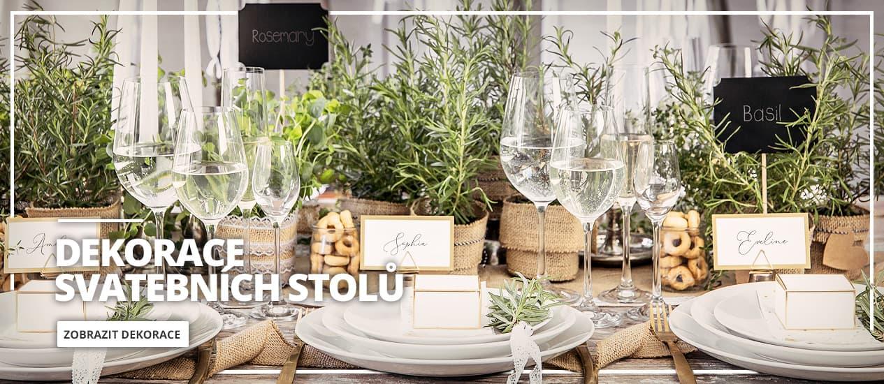 Svatba Dekorace na stůl