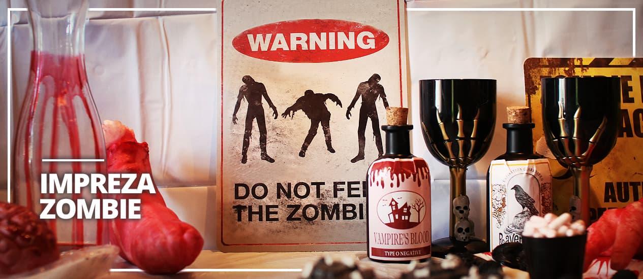 Impreza i dekoracja Zombies