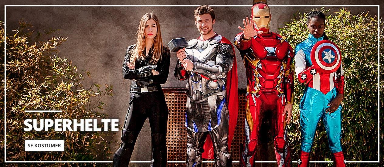 Superhelte og skurke kostumer