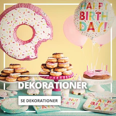 Fest og fødselsdags dekorationer