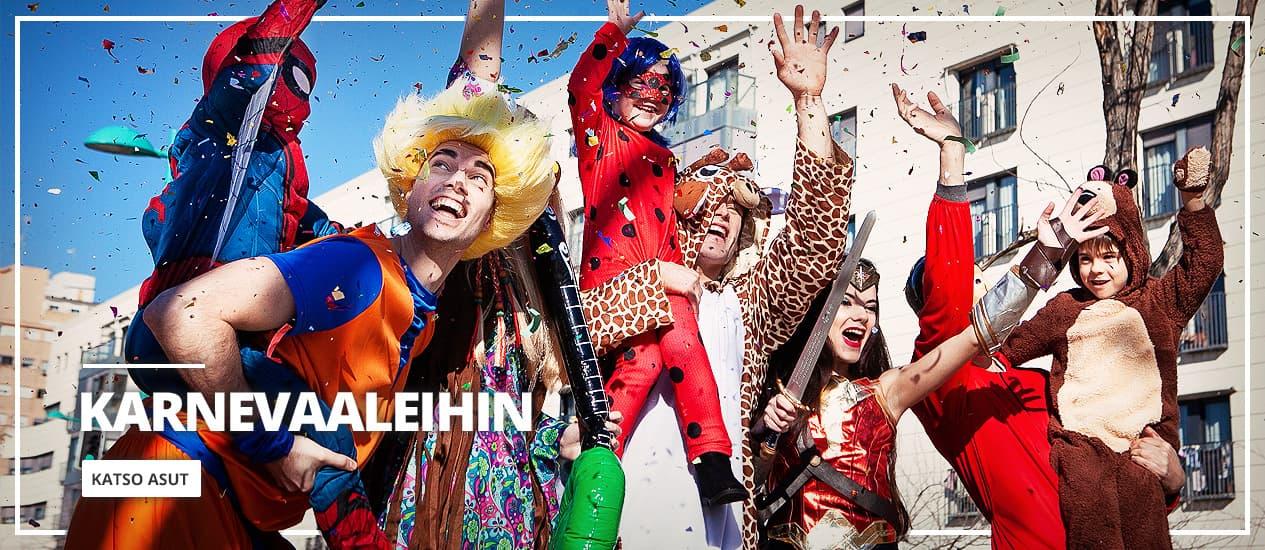 2021 Alkuperäiset karnevaalipuvut naisille, miehille ja lapsille