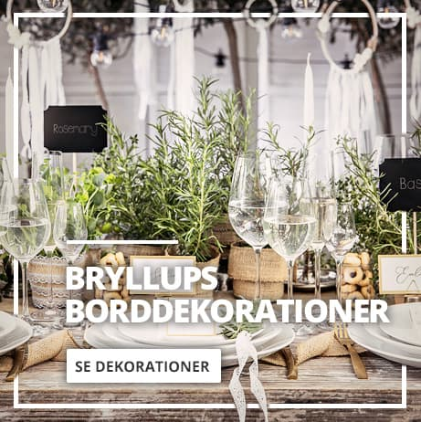 Bryllup Borddekorationer