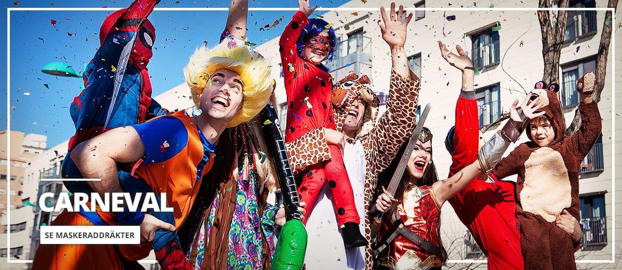 Originella Maskeradkläder Carneval 2021 för henne, honom och barn