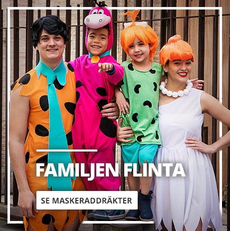 Maskeraddräkter Familjen Flinta