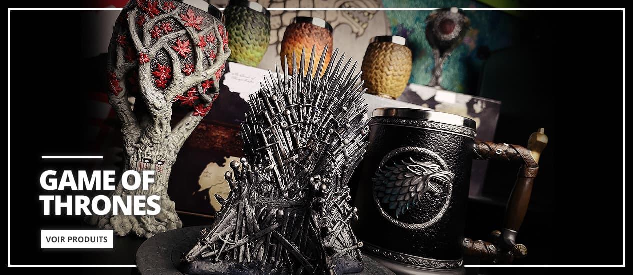 Cadeaux et Produits dérivés de Game of Throne (GOT)