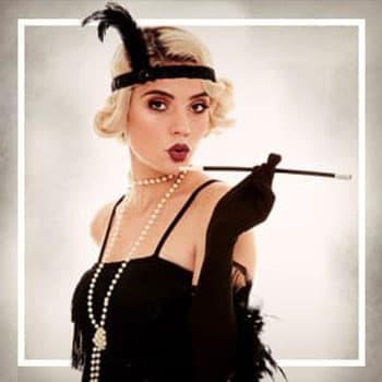 Kostýmy 1920: Gangsteři a burleska pro ženy